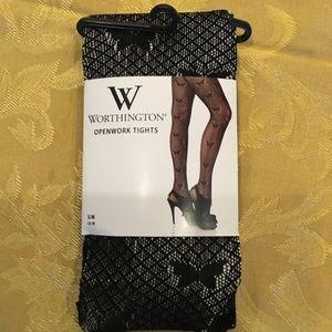 NWT black fashion tights